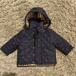 Black Burberry kids quilted jacket ✨